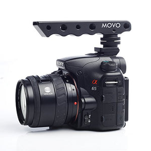 Movo Photo SVH6-SY Video Stabilizing Top Handle, Cold Shoe Extender for Sony Alpha DSLR Shoe