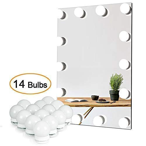 Waneway Vanity Lights For Mirror, Diy Hollywood Lighted Makeup Vanity Mirror Dimmable Lights, Stick