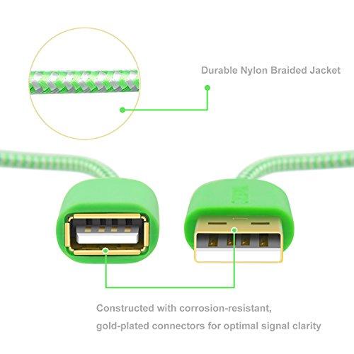 Usb 2.0 Extension Cable, Okray 5 Pack Type A Male To A Female Gold Plated Extender Cable Cord Compat