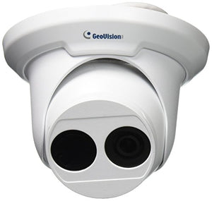 GeoVision GV-EBD4700 4MP H.265 Low Lux WDR Pro IR Eyeball IP Dome Megapixel Surveillance Camera, White