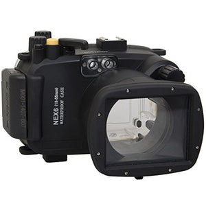 Polaroid SLR Dive Rated Waterproof Underwater Housing Case For The Sony NEX 6 Camera with a 18-55mm Lens