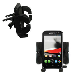 Innovative Vent Cradle Vehicle Mount Designed for The Alcatel One Touch Fierce - Adjustable Vent Clip Holder for Most Car/Auto Vent Systems