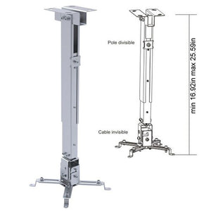 Cmple - Swivel Ceiling Mount for Projectors with Adjustable Extension from 16.9