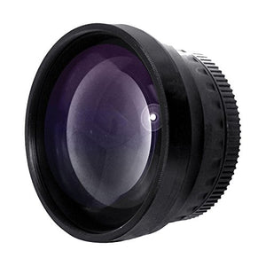 New 2.0X High Definition Telephoto Conversion Lens for Nikon 1 J5 (Only for Lenses with Filter Sizes of 40.5, 52, 55mm)