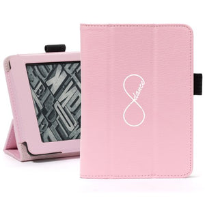 Pink For Amazon Kindle Paperwhite Leather Magnetic Case Cover Stand Infinity Infinite Dance Forever