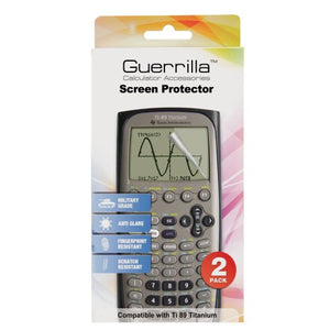 Guerrilla Military Grade Screen Protector 2-Pack For Texas Instruments TI 89 Titanium Graphing Calculator