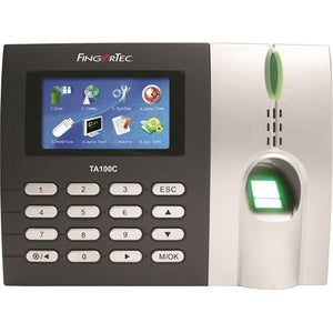 Fingertec Premier Color Multimedia Fingerprint Time Attendance System(ta100c) New Algorithm Improves Speed and Accuracy,