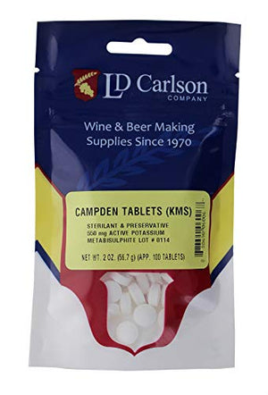 Campden Tablets (potassium metabisulfite) - 100 Tablets