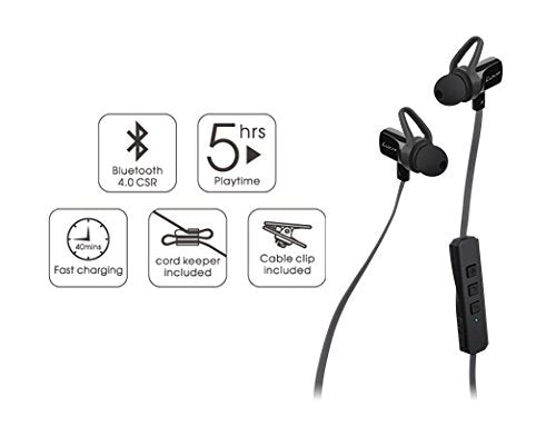Thermaltake LUXA2 Lavi O Wireless Bluetooth 4.0 Sweatproof Sports In-Ear Earbuds Headphone AD-HDP-PCLOBK-00