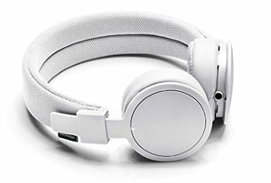 Urbanears Plattan ADV Wireless - Collapsible Headphones with Handmade Drivers, Remote and Sharing Zoundplug - True White