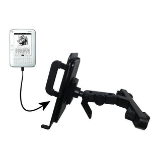 Unique Highly Adjustable Car/Auto Headrest Mount for The Hanvon WISEreader N526 by Gomadic