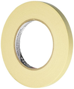 3M 501+ Tan Masking/Painter's Tape, 12 mm with Specialty of High Temperature Resistance (T933501)