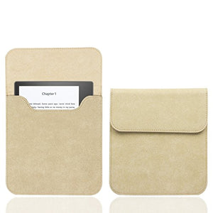 WALNEW 7'' Kindle Sleeve for Kindle Oasis - Protective Insert Sleeve Case Cover Bag Fits Kindle Oasis 10th Generation 2019 / 9th Generation 2017, Khaki