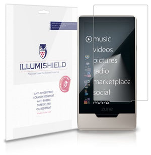 iLLumiShield Screen Protector Compatible with Microsoft Zune HD (3-Pack) Clear HD Shield Anti-Bubble and Anti-Fingerprint PET Film