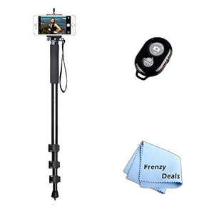 72 Monopod with Quick Release Plate for All Smartphones, Phablets, Cameras & Camcorders + Frenzy Deals Microfiber Cloth