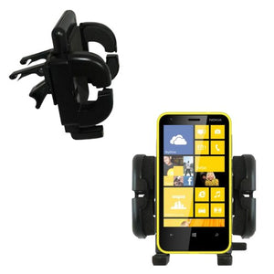 Gomadic Air Vent Clip Based Cradle Holder Car/Auto Mount Suitable for The Nokia Lumia 620
