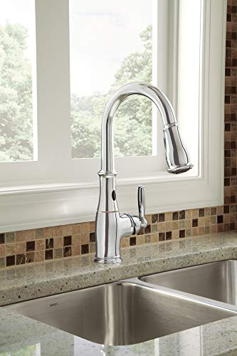Moen 7185EC Brantford Motionsense Two-Sensor Touchless One-Handle High Arc Pulldown Kitchen Faucet Featuring Reflex, Chrome