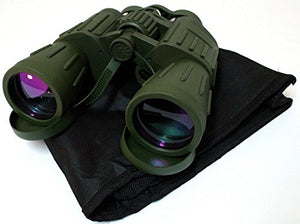 Shelter 1208 Green Army Binoculars with Bag44; 60 x 50