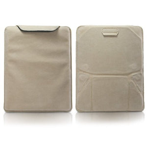 BoxWave iPad 2 Case, [Velvet Pouch Stand] Velour Slip Sleeve w/Built in Kickstand for Apple iPad 2, 4, 3 - Tan