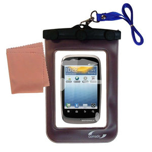 outdoor Gomadic waterproof carrying case suitable for the Motorola XT531 to use underwater - keeps device clean and dry