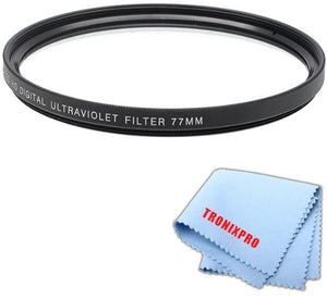 77mm Pro series Multi-Coated High Resolution Digital Ultraviolet Filter For Sony 70-400mm f/4-5.6 G2 Telephoto Zoom Lens, Sony 24-70mm f/2.8 Carl Zeiss T Alpha A-Mount Standard Zoom Lens, Sony 16-35mm