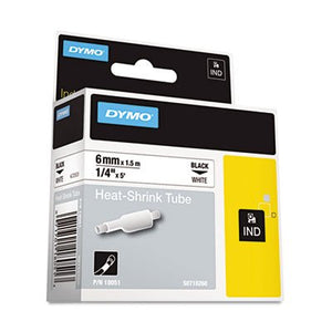 Rhino Heat Shrink Tubes Industrial Label Tape, 1/4