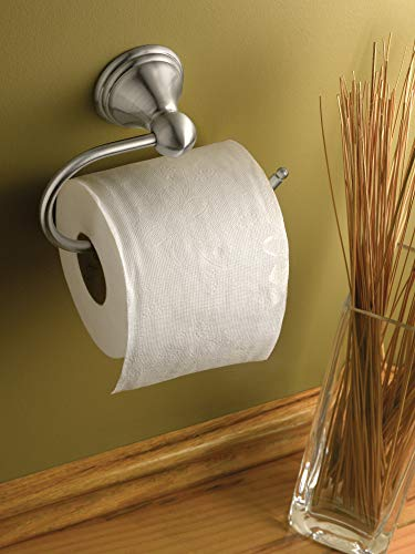 Moen DN8408BN Preston Collection Single Post Toilet Paper Holder, Spot Resist Brushed Nickel