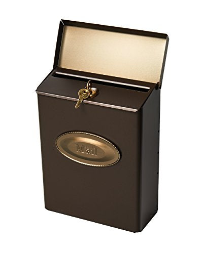 Gibraltar Mailboxes Designer Locking Medium Capacity Galvanized Steel Venetian Bronze, Wall-Mount Mailbox, DMVKGV04