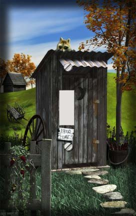 Country Outhouse Switchplate - Switch Plate Cover
