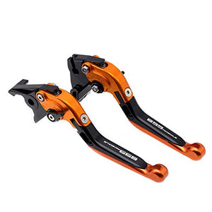 Orange Folding Extendable Brake Clutch Levers For Ducati Panigale 899 2014-2015