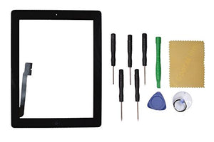 Black Touch Screen Glass Digitizer Replacement For iPad 4 Black/White +TOOL Kit US