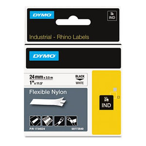 Rhino Flexible Nylon Industrial Label Tape, 1