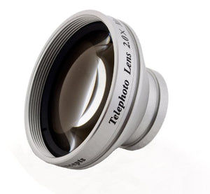 2.0X High Grade Telephoto Conversion Lens for Olympus Tough TG-2 iHS (Includes Lens Adapters)