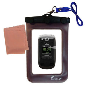 outdoor Gomadic waterproof carrying case suitable for the Samsung Convoy 2 to use underwater - keeps device clean and dry