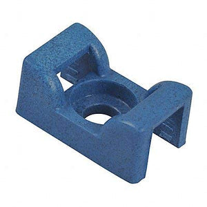 Cable Tie Base, Saddle, Screw, Blue, PK100