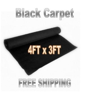 3ft x 4ft Black DJ CAR SUB Speaker Box Carpet Trunk Liner, Model:, Electro Shop