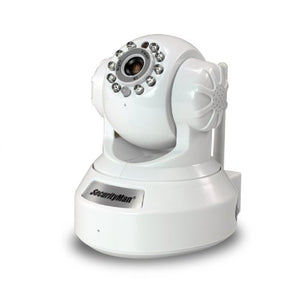 Securityman IPCAM-SD DIY Wireless/Wired IP Camera with H.264, SD Recorder, Night Vision, PTZ, & 2-Way Audio - White