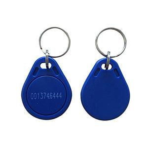 YARONGTECH Proximity EM4100 TK4100 125KHz RFID ID Card Tag Token Key Chain Keyfob Read Only Color Blue Pack of 100
