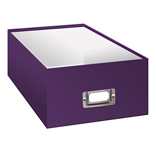 "Pioneer B-1 Photo / Video Storage Box - Holds over 1,100 Photos up to 4x6"" or 10 VHS Videos, Solid Color: Bright Purple."