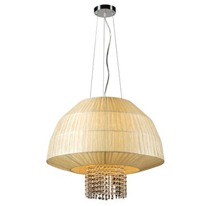 PLC Lighting 73082 BEIGE Pendant from Tourou Collection