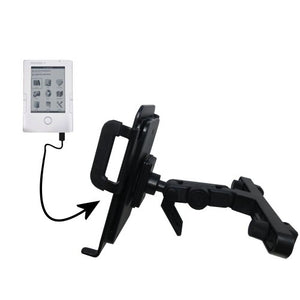 Unique Highly Adjustable Car/Auto Headrest Mount for The Netronix Pocketbook 302 by Gomadic