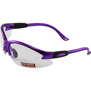 Global Vision Cougar Lab & Safety Glasses Clear Lens (Purple)