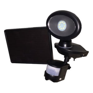 Maxsa 44643-CAM-BK Black Solar Security Video Camera and Spotlight