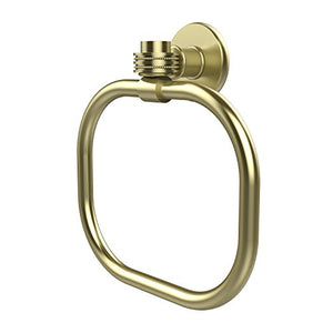 Allied Brass 2016 D Sbr Continental Collection Dotted Accents Towel Ring, Satin Brass