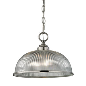 Cornerstone Lighting 7681PL/20 Liberty Park 1 Light Pendant, Brushed Nickel