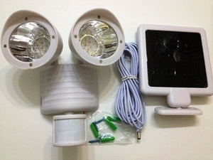 White Dual Security Solar Lights With Motion Sensor & 22 Leds