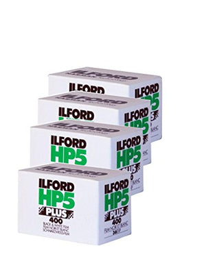 Ilford 1574577 HP5 Plus, Black and White Print Film, 35 mm, ISO 400, 36 Exposures (Pack of 4)