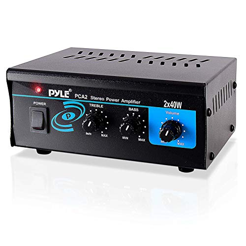 Home Audio Power Amplifier System  2 X40 W Mini Dual Channel Sound Stereo Receiver Box W/ Led  For Amp