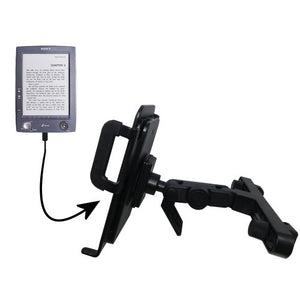 Unique Highly Adjustable Car/Auto Headrest Mount for The Sony PRS-500 Digital Reader Book by Gomadic