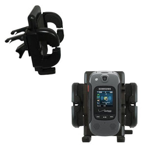 Gomadic Air Vent Clip Based Cradle Holder Car/Auto Mount Suitable for The Samsung Conyoy 3 / SCH-U680